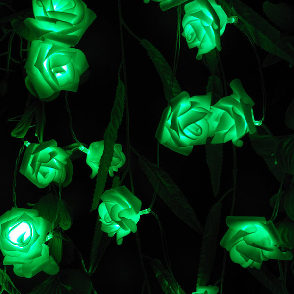 4M 40LED Rose Flower LED String Lights Battery Operated Event Christmas Wedding Birthday Party Decoration Lightings Casamento