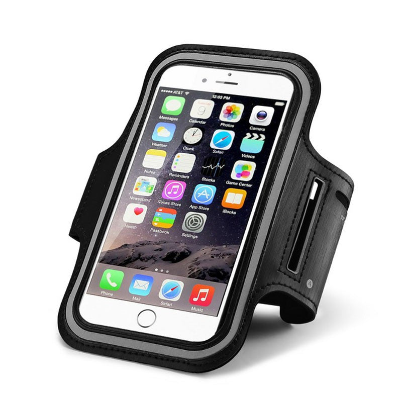 sale retailer c02dc ff2fc 5.5'' Universal Jog Sports Arm Band Gym Running Cover Case for Apple iPhone  6 Plus 6s Plus Arm Holder Pouch Phone Case Armbands