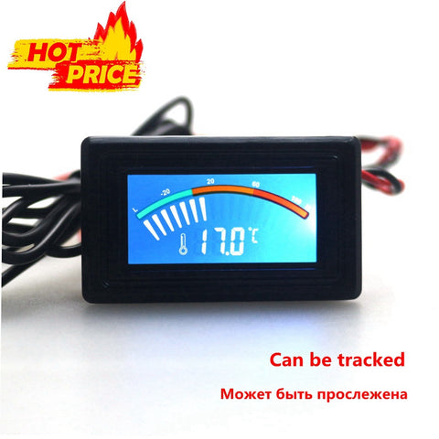 - 50~110C Digital LCD Pointer Thermometer in the Car Water Temperature Tester C F with Sensor for Air Conditioning Boilers