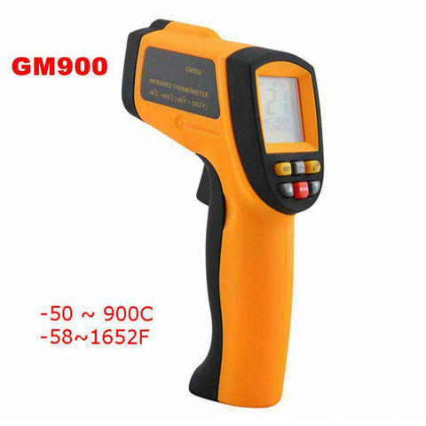 -50~900C -58~1652F Pyrometer 0.1~1EM Celsius IR Infrared Thermometer Non-Contact Free Shipping