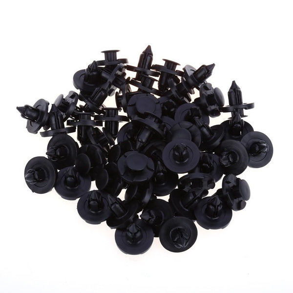 50pcs 1362 8MM Car Plastic Rivets Door Push-type Fastener Retainer Clips Black Auto Fastener for Nissan Infiniti