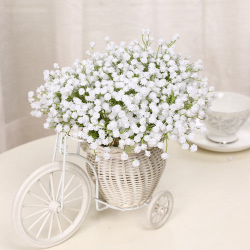 54PCS 6Bundles MANTIANXING Star Flower Artificial Flowers Home Furnishing Decorations For Wedding Decorative For Shooting Props