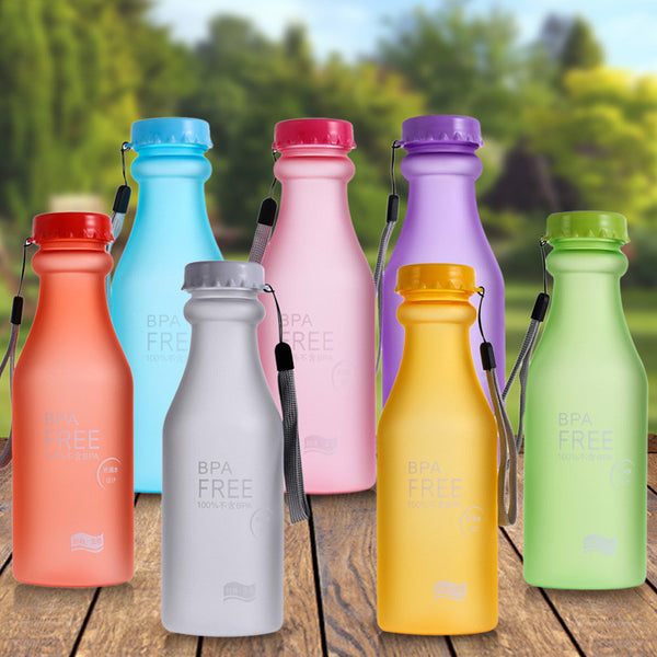550ml Warehouse Popular Unbreakable Portable Leak-proof Bike Sports Bottle Unbreakable Plastic Water Bottle Outdoor Traveling
