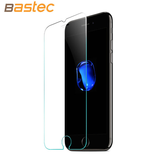 [2-Pack] Bastec HD Clear Protective Film 0.26mm 2.5D Curved Edge Tempered Glass Screen Protector for iPhone 7 6 6s Plus 5 5s SE