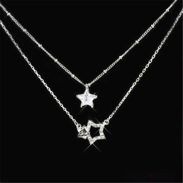 [PCMOS] 2017 New KPOP Drama You're Beautiful Park Shin Hye Jung Yong Hwa Rhinestone Star Necklace Free Shipping 16051428