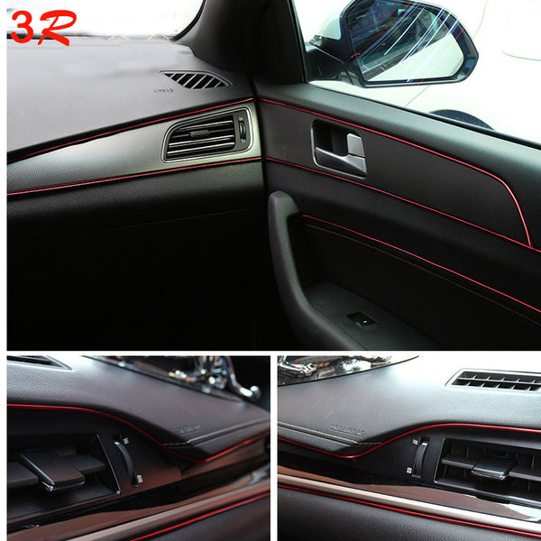 5M Universal Car Styling Flexible Interior Internal Decoration Moulding Trim Decorative Strips Line DIY Sticker Car-Styling