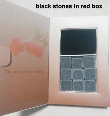6 Colors Christmas Gift Whisky Stones in DELICATE GIFT BOX Whiskey Wine Stone Whisky Rock Wedding Decoration Birthday