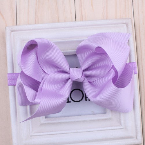 6 inch hair bows Infant headband big hair bow hairbows baby hairband 16 colors for choose