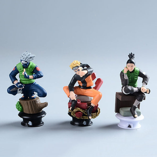 6 Pcs set Naruto Action Figure Anime Pvc 9cm Cool Uzumaki Hinata Madara Kakashi Figure Classic Toys for Kids or Collection WS156