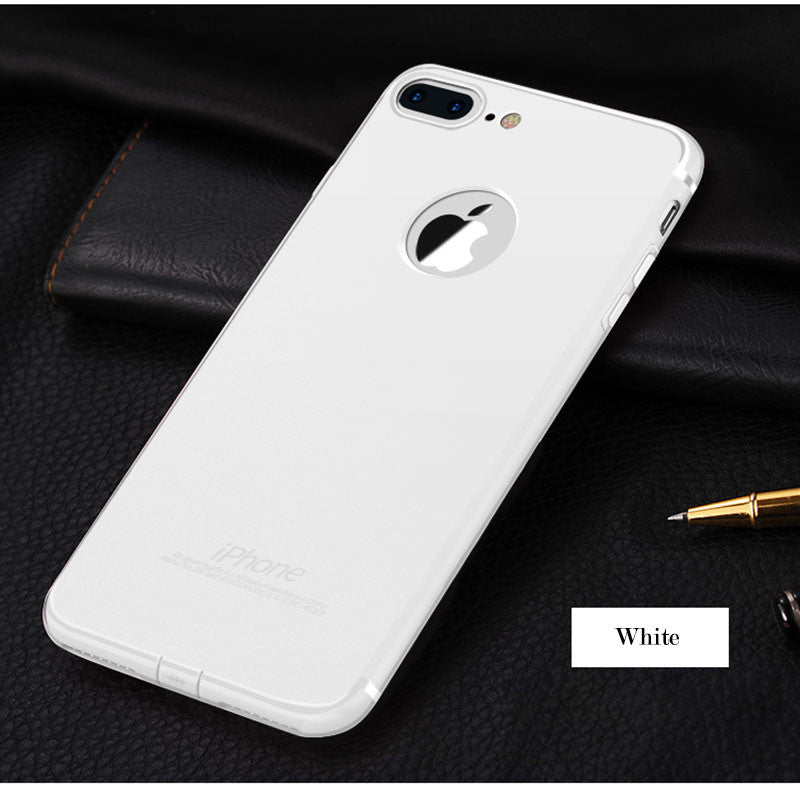 "7plus Soft Back Cover For Apple iphone7 4.7"" iphone 7 Plus Case Slim Silicone Logo Candy Cute Black Matte TPU Phone Accessories"