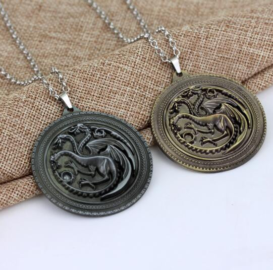 9 Family HBO Game Of Throne Necklace 3D Wolf Head Stark Crest Winter Is Coming Pendant Song Of Ice And Fire Jewelry Gift