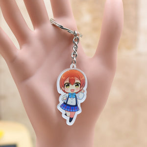 9 Styles LOVE LIVE acrylic Keychain Action Figure Pendant Car Key Chain Key Accessories LL007 LTX1