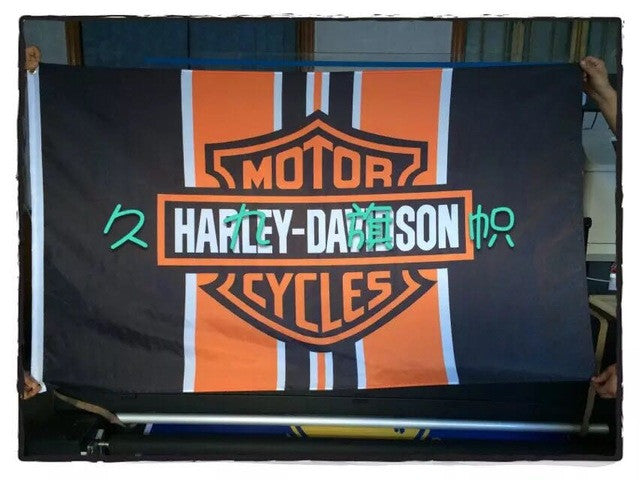 90*150CM motorcycle race flag motor decorative banner 100D polyester free shipping