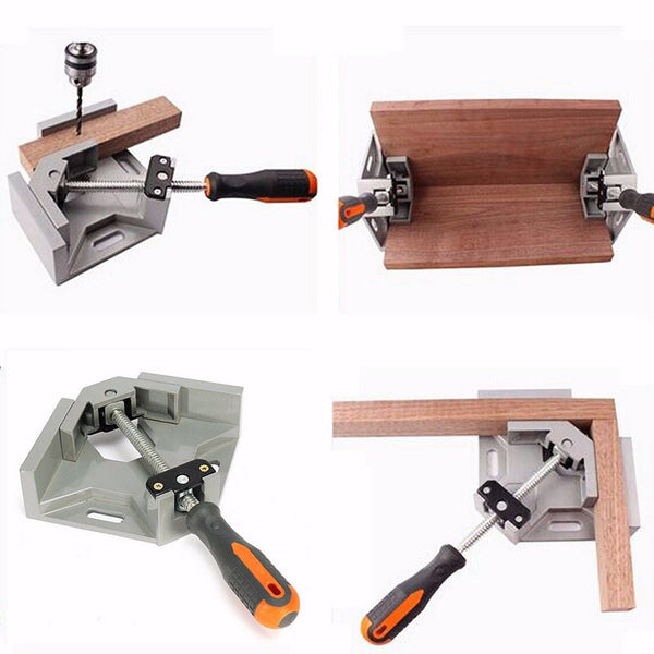 90 Degree Corner Right Angle Carbide Vice Clamps Woodworking Clip DIY Photo Frame Aquarium Furniture Frame Gussets Tools