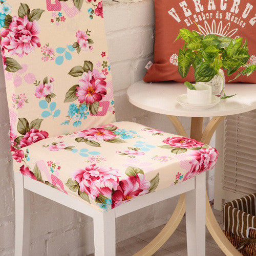 Actionclub 2016 New Style Home Decor Chair Covers Spandex Floral Style Decoration Home&hotel Chair Covers housse de chaise