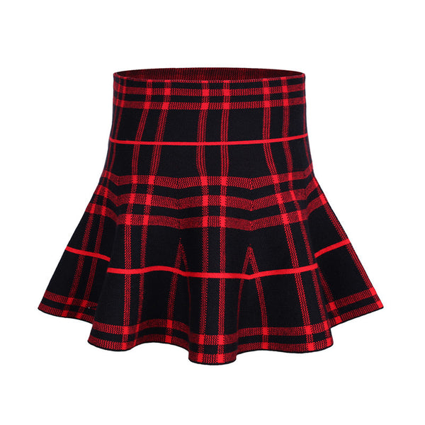 Autumn Winter Girl Skirts Baby High Waisted Skirt Girls Knit Skirts Children Clothing Solid Cotton Princess Party Pleated Skirt