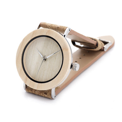 Bobo Bird Leather Quartz Wooden Quartz Wristwatches Men Bbe021