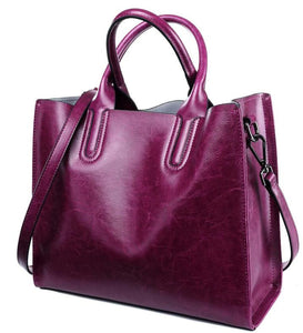Bvlriga Patchwork Genuine Leather Handbags Women A6g140