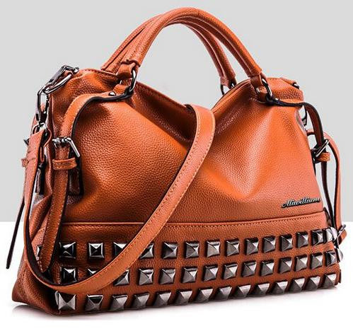 Bvlriga Rivet Solid Handbags Women V2g65