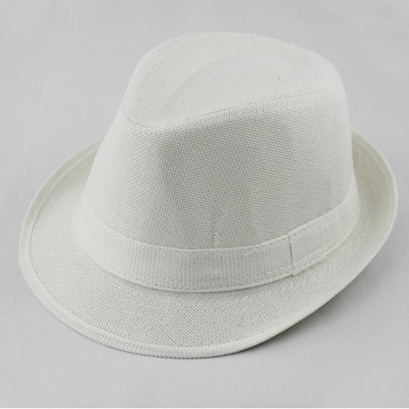 Baby Fedora Hat Solid Color Children Hat Kids Linen Jazz Cap Cowboy Hat  Fedoras Dicers Free Shipping FH017 a727cf62b16
