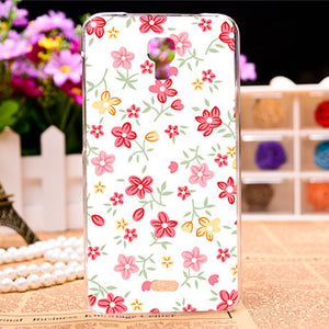 Beautiful Flower Design Painted Soft TPU Hard Plastic Cases For Explay Vega 4.7 inch Case Rose Peony Flowers Phone Cover Bag