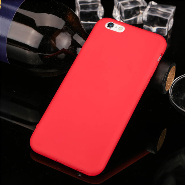 Beautiful protective cover with Dust plug Cute Candy color Soft TPU Phone Cases for iPhone 6 6S 6Plus 6s plus 4.7 5.5'' case