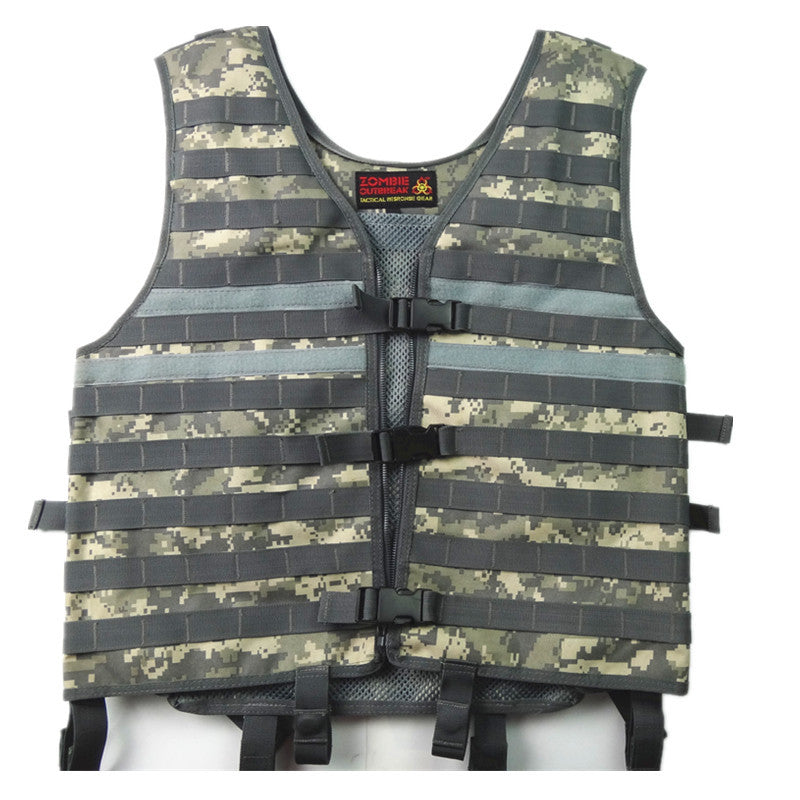 Black Combat Molle Tactical Vest Military Army Airsoft Paintball Shooting Camouflage Vest Outdoor Hunting Protective Mens Vest