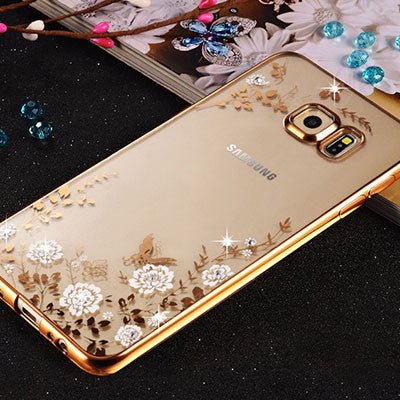 best service 69530 d8f29 Bling Diamond Clear Case for Pouch Samsung Galaxy S7 Edge Case ...