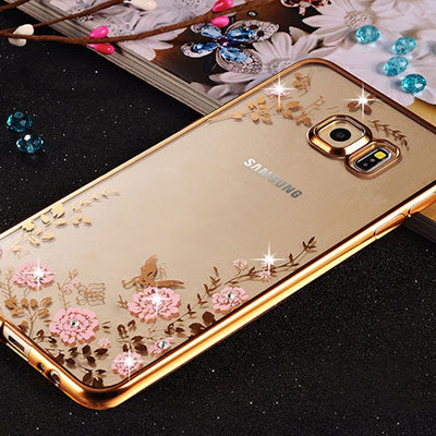 new concept a6bb0 7a908 Bling Diamond Clear Case for Pouch Samsung Galaxy S7 Edge Case Silicone  Cover for Samsung S7 Edge Case Luxury S7 Cover S7edge