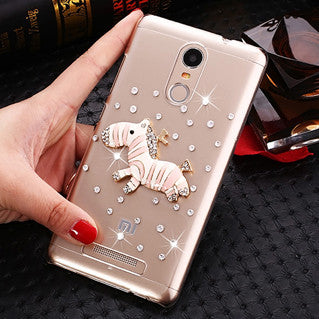 Blue Butterfly flowers Rhinestone Case for Xiaomi Redmi Note 3 Note 3 Pro Note 3 Prime Note 3 Pro Prime Case 150*8.65*76mm