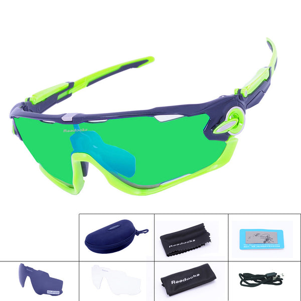 Brand NEW Polarized Cycling Sunglasses Mountain Bike Goggles 3 Lens Quality Sport Eyewear MTB Bicycle Running Cycling Glasses