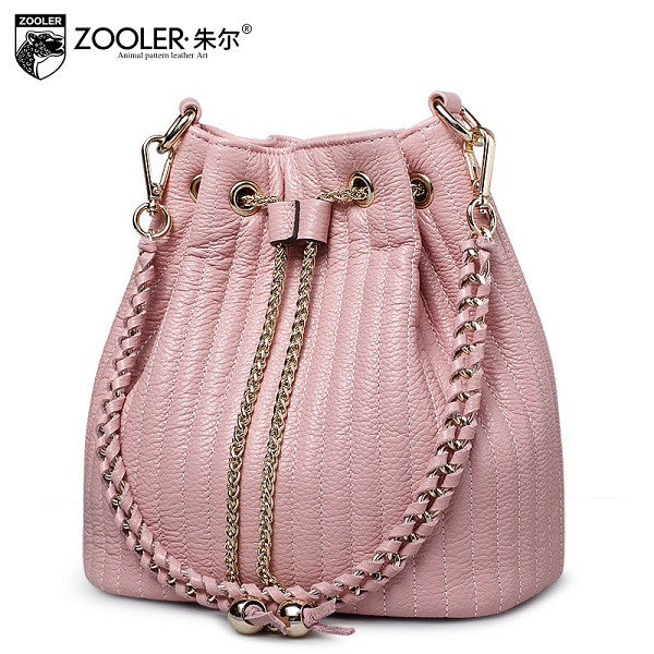 Bucket shoulder bag ZOOLER genuine leather bags women messenger bag lady 2016 Classic bolsa Colors #2113