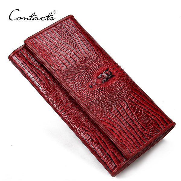 Contact's Alligator Genuine Leather Wallet Women C1130