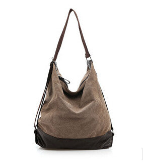 Cooamy Solid Canvas Handbags Women 6005-516