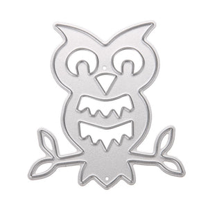 Carbon Steel Owl DIY Scrapbooking Album Paper Card Diary Hand Craft Stencil Christmas Decoration Supplies NG4S