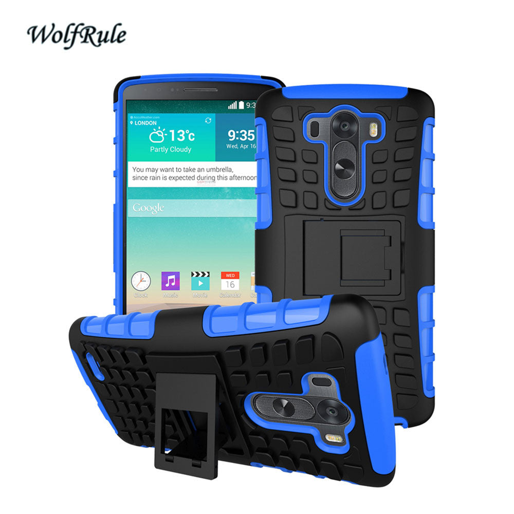 wholesale dealer 8e7f2 b1b5f Case For LG G3 Cover Silicone & Plastic Armor Case For LG G3 D855 D850 F400  LS990 G 3 Fundas Phone Holder Stand Capa Coque }<
