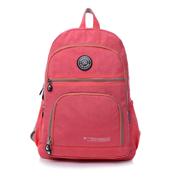 Jinqiaoer Solid Nylon Backpacks Women 712