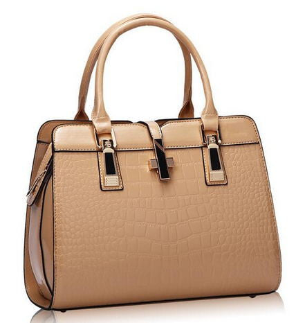 Zhe Ren Appliques Alligator Patent Leather Handbags Women