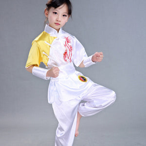 Children Chinese Traditional Wushu Costume Martial Arts Uniform Kung Fu Suit for Kids Boys Girls Stage Performance Clothing Set