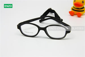 Children Glasses Frame Size 41 Mira Flexible No Screw One-piece Optical Baby Eyewear with Strap Cord Kids Eyeglasses Boys Girls