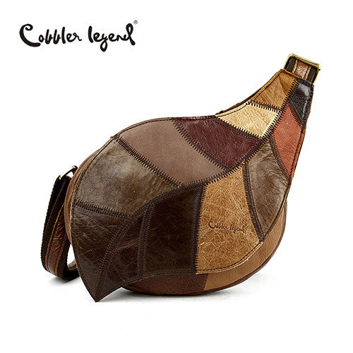 Cobbler Legend Patchwork Genuine Leather Handbags Women 03242