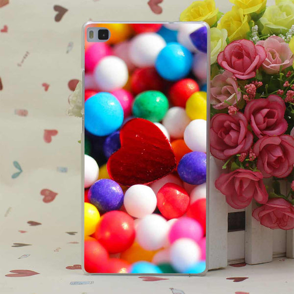 Colorful Lion Perfect Hard Transparent Case Cover for Huawei P6 P7 P8 P9 Lite Plus & Honor 6 7 4C 4X G7 Case Cover