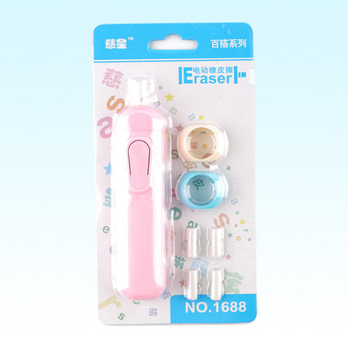Creative Electric Rubber Eraser Cute Kawaii Automatic Erasers For Kids Gift Korean Stationery Free Shipping 877