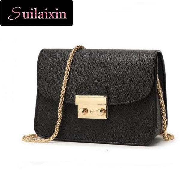 Shunvbasha Lock Solid Pu Handbags Women Women Messenger