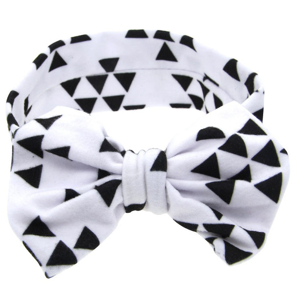 Cute Baby Printing Knot Elasticity Headband Headwraps Infant girls Cotton wide Knot hair band Kids Hair Accessories 1pc HB520