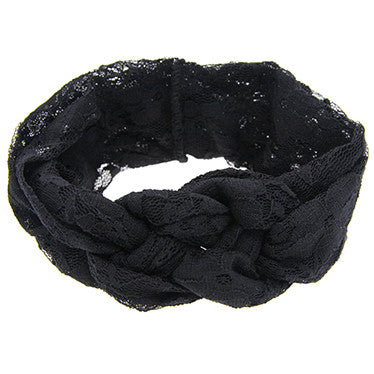 Cute Baby Soft Lace material Bow Knot Headband Beautiful and Comfortable Baby girls Hair Accessories W204