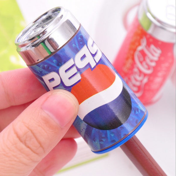 Cute Cola style pencil sharpener belt eraser combination stationary wholesale office school supplies free shipping 05205