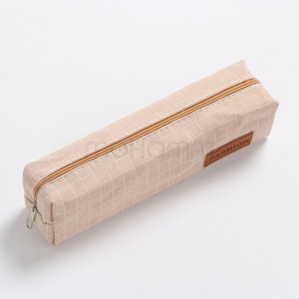 Cute Portable Canvas Pencil Bag Make Up Bags Stationary School Tools For Kids Children 12 Colors