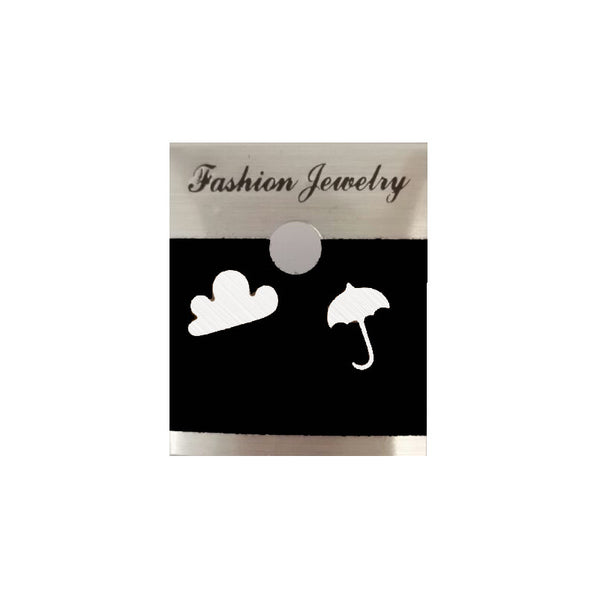 Dianshangkaituozhe Trendy Stainless Steel Metal Stud Earrings Women E106