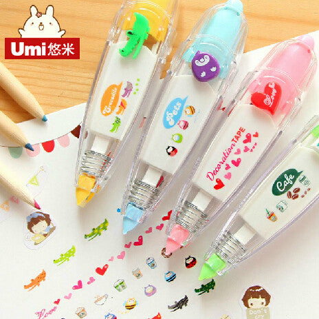 DIY Cute Cartoon Kawaii Correction Tape School Supplies Material For Kids Gift Korean Stationery Free shipping 1503